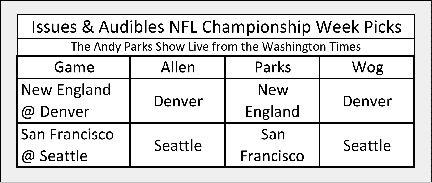 AndyParks Show Week Championship Picks